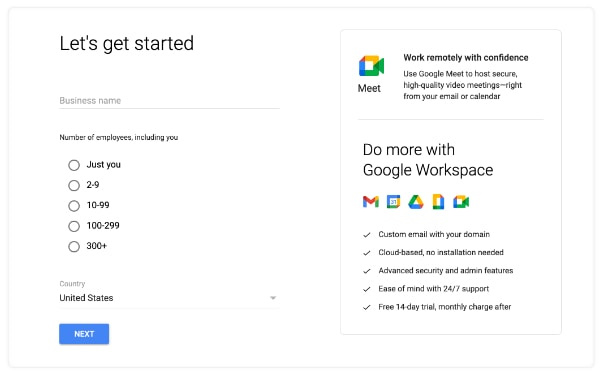 getting started with Google Workspace