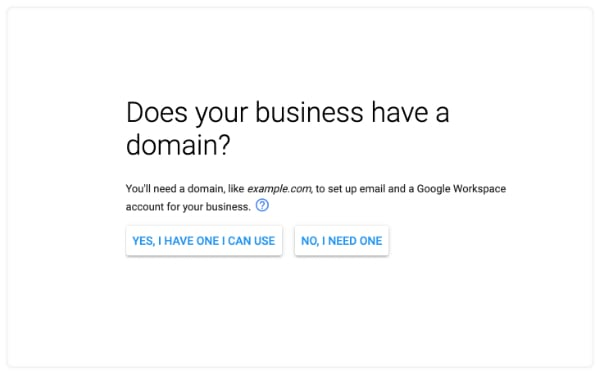 business domain name