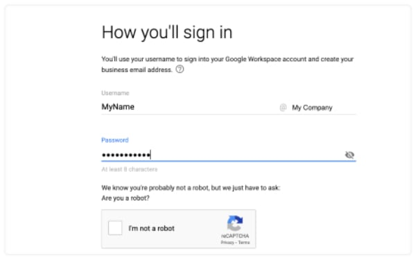 signing into email